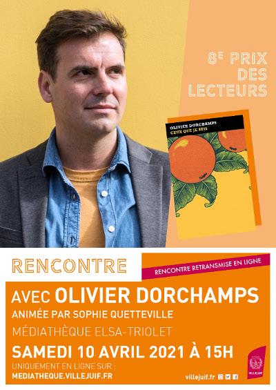 Prix des lecteurs de Villejuif : Rencontre en ligne avec Olivier Dorchamps  